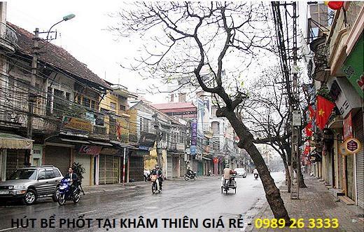Hút bể phốt tại Khâm Thiên