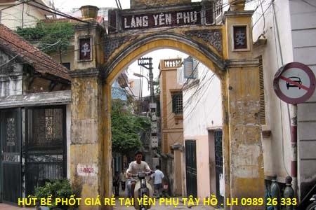 Hút bể phốt tại Yên Phụ