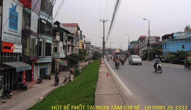 Hút bể phốt tại Nghi Tàm