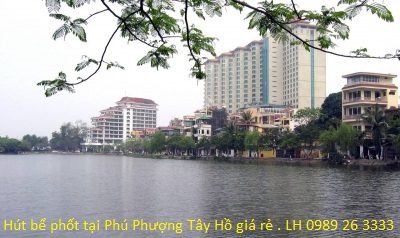 Hút bể phốt tại Phú Phượng Tây Hồ
