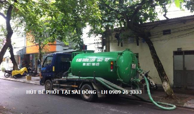 Hút bể phốt tại Sài Đồng