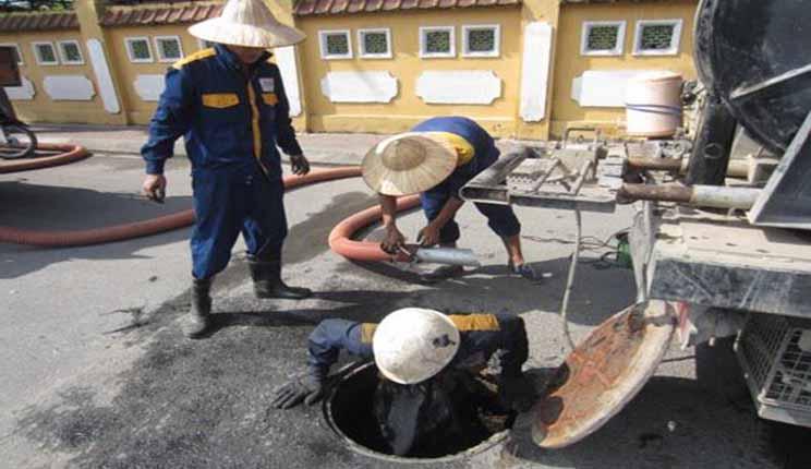 Hút bể phốt tại Bồ Đề