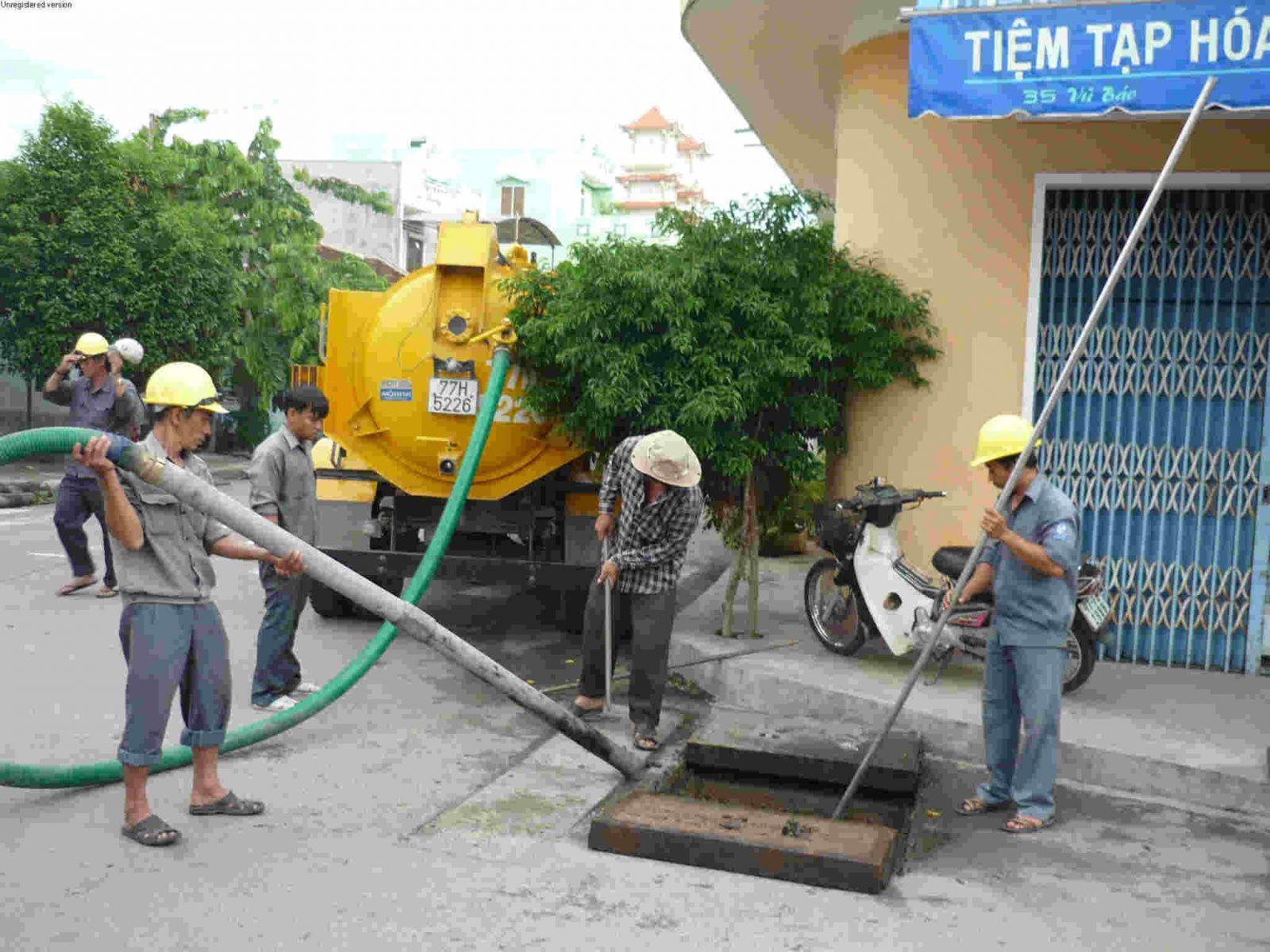 Hút bể phốt, hố ga tại Văn Quán, Hà Đông