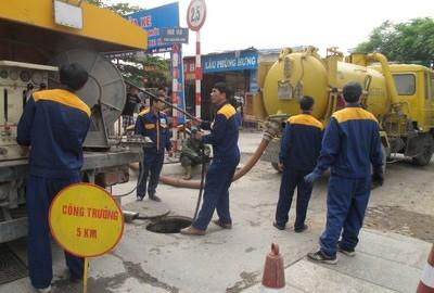 hút bể phốt tại Láng Hạ