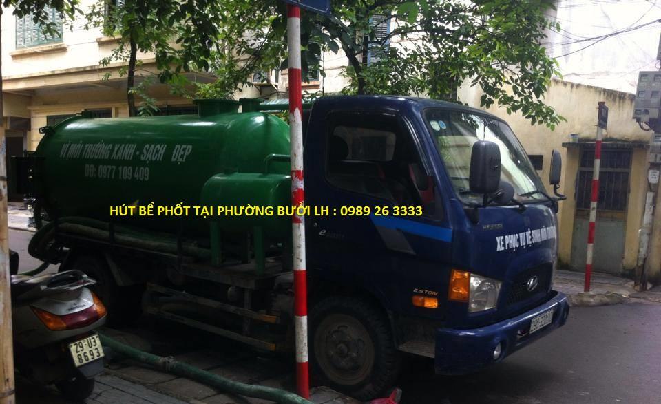Hút bể phốt tại phường Bưởi giá rẻ