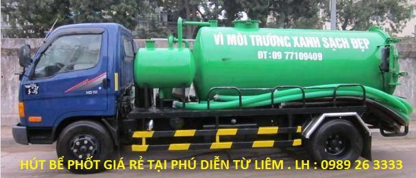 Dịch vụ hút bể phốt tại Phú Diễn