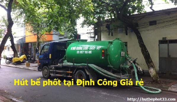 Dịch vụ hút bể phốt tại Định Công