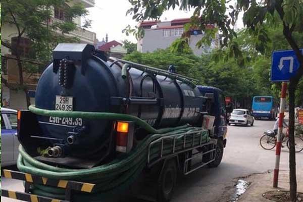 xe hút bể phốt tại Lục Nam