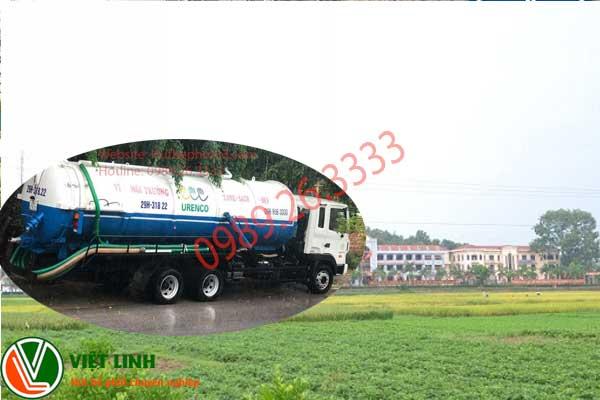 báo giá hút bể phốt tại Việt Yên