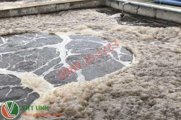 bể chứa bùn vi sinh tai cac khu cn quang ninh