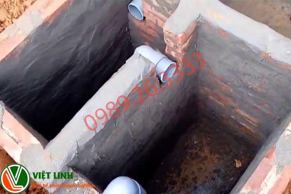 Bể phốt chứa chất thải sinh hoạt