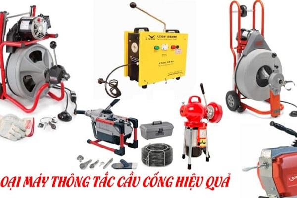 Việt Linh cung cấp trọn bộ máy móc hiện đại để thông tắc hiệu quả