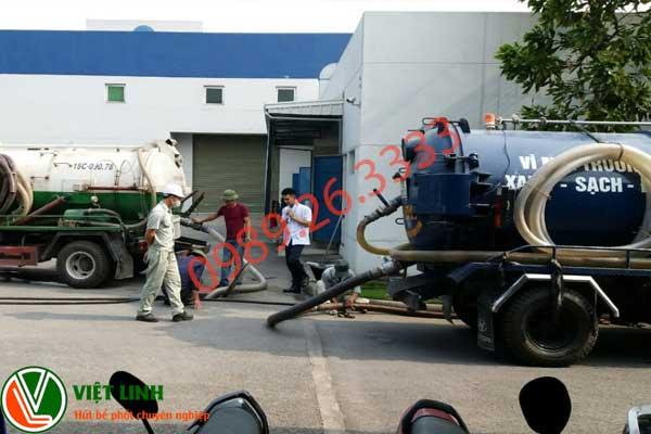 chất lượng dịch vụ hút bể phốt của Việt Linh JSC