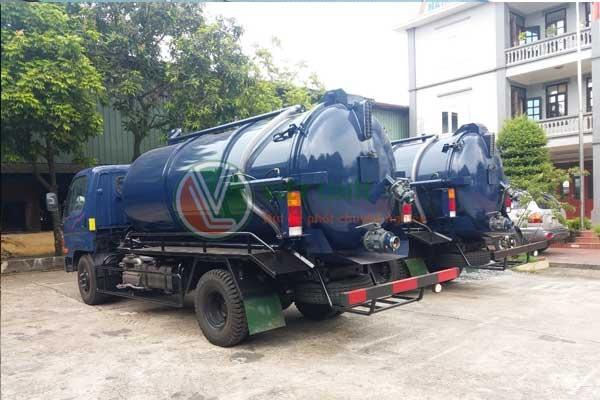 Việt Linh trang bị xe hút bể phốt chuyên dụng, hiện đai, đầy đủ kích thước, thể tích