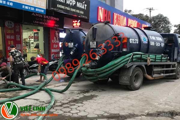 Dịch vụ hút bể phốt tại Hà Nội