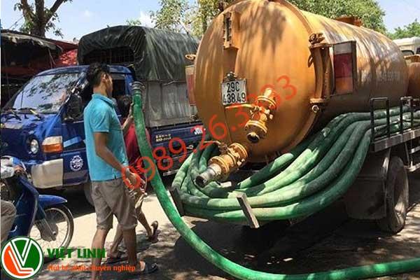 Dịch vụ hút bể phốt tại Thái Bình