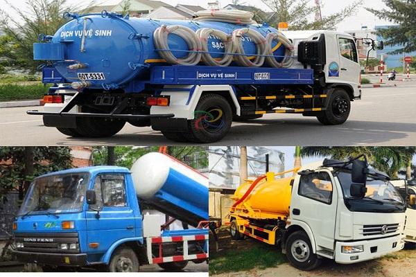 Việt Linh trang bị đầy đủ xe hút bể phốt với đầy đủ kích thước