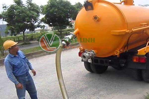 xe hút bể phốt tại Tiên Dương