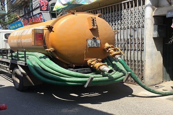 xe hút bể phốt tại Hàng Bồ