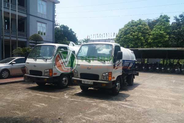Việt Linh sở hữu dàn xe hút bể phốt hiện đại