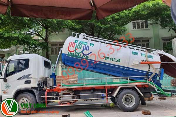 xe phục vụ hút bể phốt tại Bắc Giang