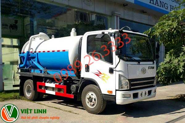 Xe hút bể phốt 30 khổi của Việt Linh