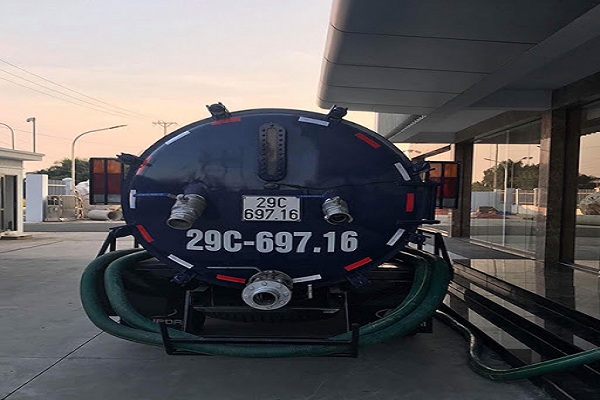 xe hút bể phốt tại Phù Đổng