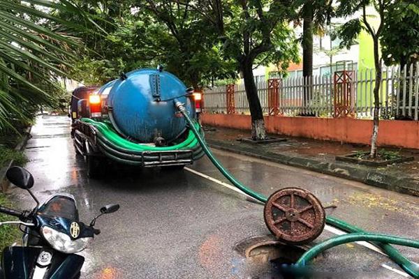 hút bể phốt tại Phú Thị
