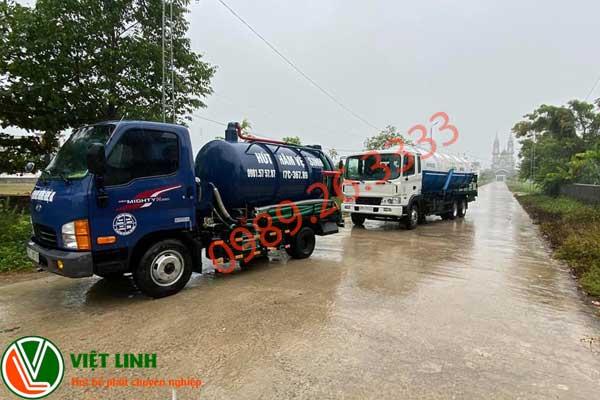 xe hút bể phốt của việt Linh tại Thạch Thất