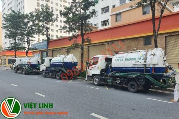 Xe hút bể phốt của Việt Linh tại Vĩnh Phúc