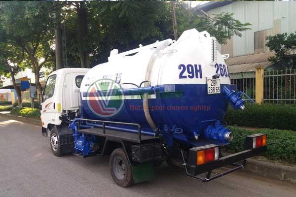 Xe hút bùn vi sinh tại Bắc Giang