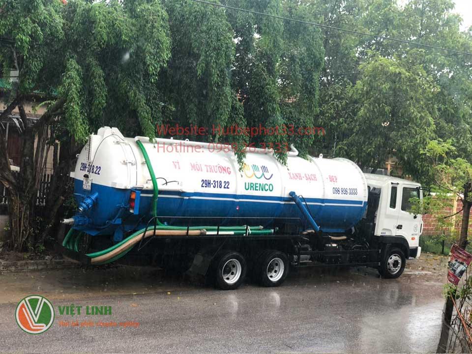 xe hút bùn vi sinh của Việt Linh tại hà nội